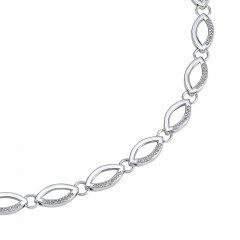 Stříbrný náhrdelník SAHARA se zirkony