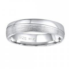 Stříbrný snubní prsten PRESLEY