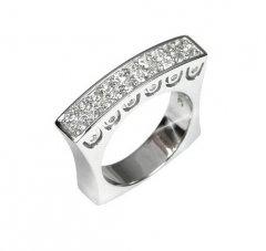 Luxusní stříbrný prsten s krystaly Swarovski™
