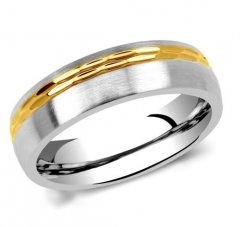 Ocelový snubní prsten RC2129