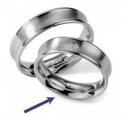 Ocelový snubní prsten RC2027z