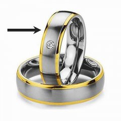 Ocelový snubní prsten RC2044z