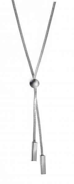 Jemný stříbrný náhrdelník s kuličkou a tyčkami