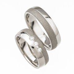 Ocelové snubní prsteny SRP4900