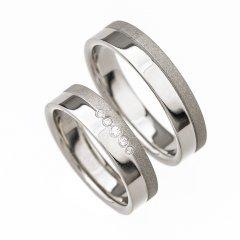 Ocelové snubní prsteny SRP4002