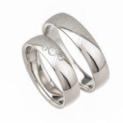 Ocelové snubní prsteny SRP4008
