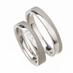Ocelové snubní prsteny SRP4009