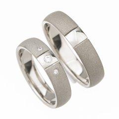 Ocelové snubní prsteny SRP4012