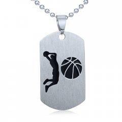 Ocelový přívěsek Basketbal s řetízkem 60 cm