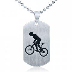 Ocelový přívěsek Cyklistika s řetízkem 60 cm