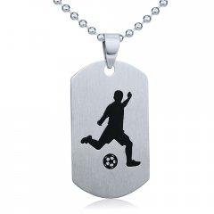 Ocelový přívěsek Fotbal s řetízkem 60 cm