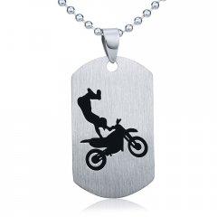 Ocelový přívěsek Freestyle Motocross s řetízkem 60 cm