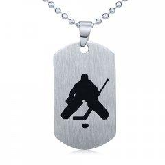 Ocelový přívěsek Hokejový brankář s řetízkem 60 cm