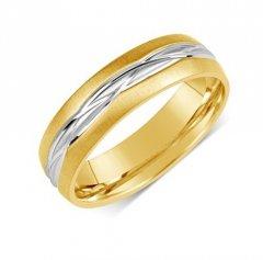 Ocelový snubní prsten RRC191