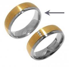 Ocelový snubní prsten RRC2046m