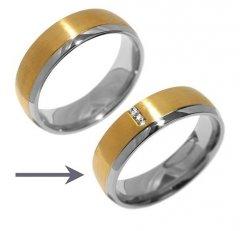 Ocelový snubní prsten RRC2046z