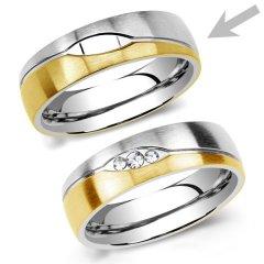 Ocelový snubní prsten RRC2051m