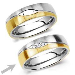 Ocelový snubní prsten RRC2051z