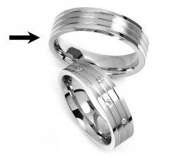 Ocelový snubní prsten RRC2095m