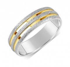 Ocelový snubní prsten RRC22700