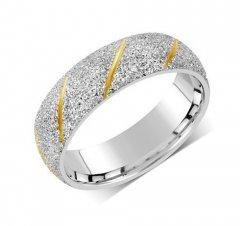 Ocelový snubní prsten RRC22799