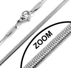 Ocelový řetízek plochý hádek 2,5 mm