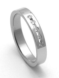 Ocelový snubní prsten RZ04025