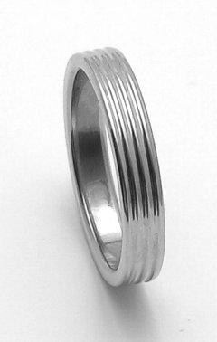 Ocelový snubní prsten RZ04800