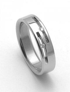 Ocelový snubní prsten RZ05015