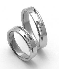 Ocelové snubní prsteny SRZ5015
