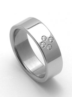 Ocelový snubní prsten RZ06054