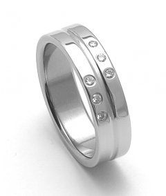 Ocelový snubní prsten RZ06118