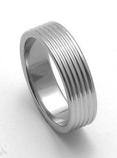 Ocelový snubní prsten RZ06800