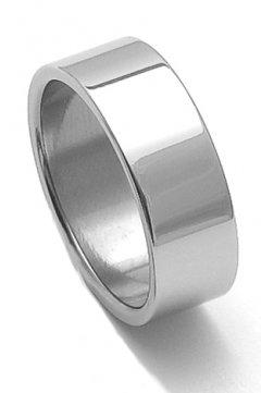 Ocelový snubní prsten RZ08000