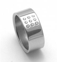 Ocelový snubní prsten RZ08001