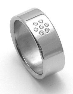Ocelový snubní prsten RZ08002