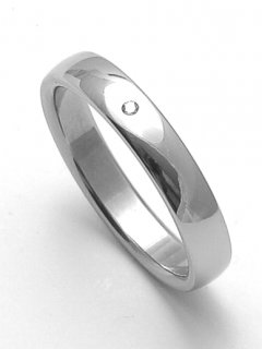Ocelový snubní prsten RZ14001