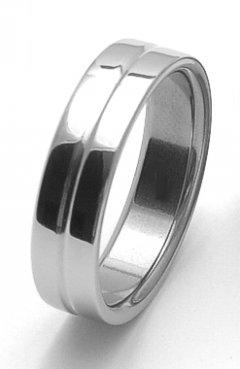 Ocelový snubní prsten RZ86118
