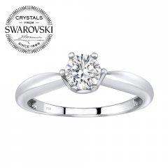 Stříbrný prsten s krystalem Swarovski Zirconia®