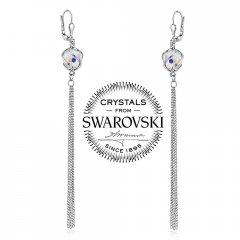 Stříbrné řetízkové náušnice se Swarovski® Crystals