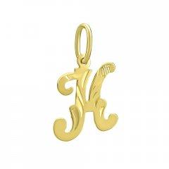 Zlatý přívěsek písmeno K