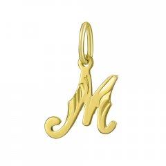 Zlatý přívěsek písmeno M