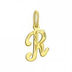 Zlatý přívěsek písmeno R