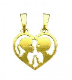 Zlatý přívěsek - srdce pro pár