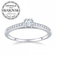 Stříbrný prsten se Swarovski® Crystals ATHENAIS