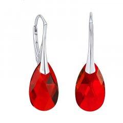 Náušnice Swarovski CRYSTALLIZED™ kapka 16 mm červená