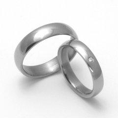 Titanové snubní prsteny STT0100
