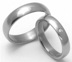 Titanové snubní prsteny STT0100 - pár