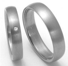 Titanové snubní prsteny STT0200 - pár