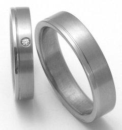 Titanové snubní prsteny STT0300 - pár